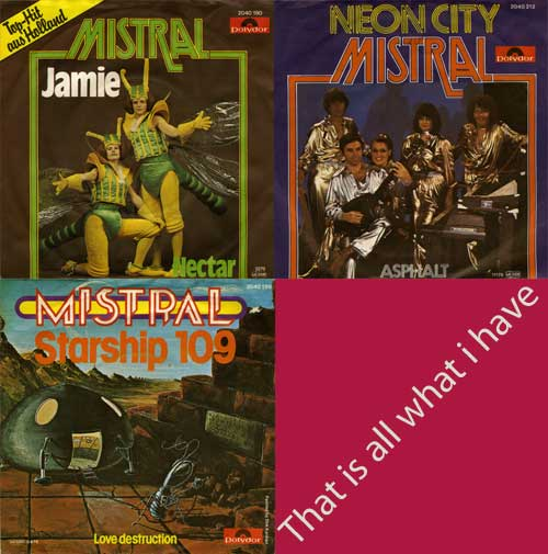 Mistral 1977-1978 Jamie + Nectar Neon City + Asphalt Starship 109 + Love Destruction